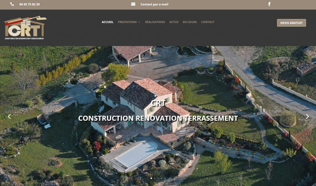 Création site CRT FORCALQUIER - Construction Rénovation Terrassement (CRT)- crtentreprise.fr