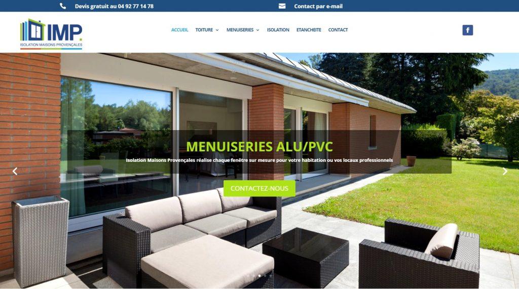 Création site IMP Forcalquier Manosque 04, Toiture, Isolation, Fenêtres PVC - imp04.fr