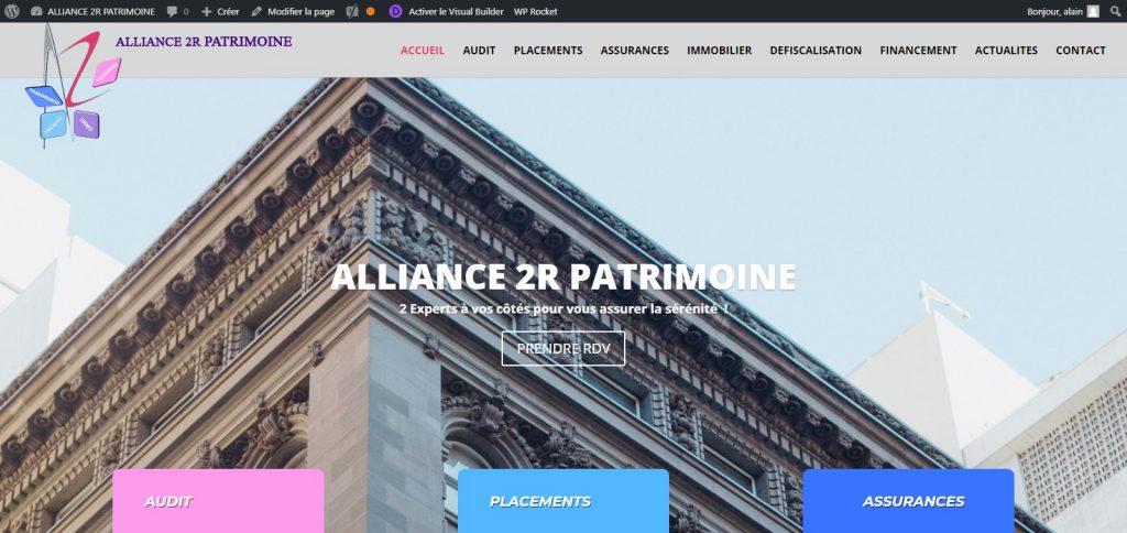 Création site internet A2R PATRIMOINE - a2rpatrimoine.fr