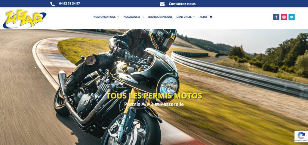 Réalisation site internet auto-écoles ZIG-ZAG- autoecole-zigzag.fr